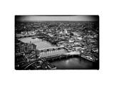 View of City of London with St. Paul's Cathedral at Nightfall - River Thames - London - UK Photographic Print by Philippe Hugonnard