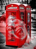 Art Print Series - London Calling - Phone Booths - UK Red Phone - London - UK - England Photographic Print by Philippe Hugonnard