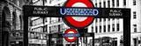 The Underground Signs - Subway Station Sign - City of London - UK - England - United Kingdom Fotografisk trykk av Philippe Hugonnard