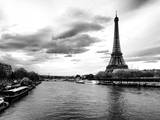 View of the River Seine and the Eiffel Tower - Paris - France - Europe Photographic Print by Philippe Hugonnard