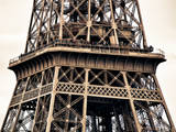 Close Up of Eiffel Tower - Paris - France - Europe Photographic Print by Philippe Hugonnard