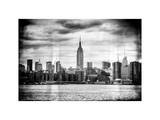 Instants of NY BW Series - Landscape View Manhattan with the Empire State Building - New York Photographic Print by Philippe Hugonnard