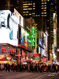 Times Square Urban Scene by Night - Manhattan - New York City - United States - USA Photographic Print by Philippe Hugonnard