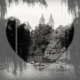 Love NY Series - Central Park Row Boat - Manhattan - New York - USA - B&W Photography Photographic Print by Philippe Hugonnard