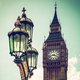 Big Ben and the Royal Lamppost UK - City of London - UK - England - United Kingdom - Europe Photographic Print by Philippe Hugonnard