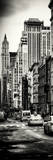 Vertical Panoramic - Door Posters - NYC Yellow Taxis / Cabs on Broadway Avenue in Manhattan Photographic Print by Philippe Hugonnard