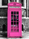 Red Phone Booth in London painted Pink - City of London - UK - England - United Kingdom - Europe Photographic Print by Philippe Hugonnard