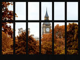 Window View of Big Ben in Autumn - UK Landscape - London - UK - England - United Kingdom - Europe Photographic Print by Philippe Hugonnard