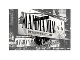 Love NY B&W Series - Mamma Mia The Musical - Winter Garden Theatre - Manhattan - New York - USA Photographic Print by Philippe Hugonnard
