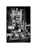The Booth Theatre at Broadway - Urban Street Scene by Night with a NYPD Police Car - Manhattan Photographic Print by Philippe Hugonnard