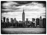 Landscape View Manhattan with the Empire State Building at Sunset - New York Photographic Print by Philippe Hugonnard