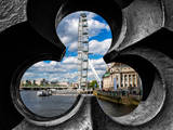 To the Railing of the Westminster Bridge - London Eye - Millennium Wheel - London - UK - England Photographic Print by Philippe Hugonnard