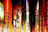 Urban Stretch Series - Times Square by Night - Manhattan - New York Photographic Print by Philippe Hugonnard
