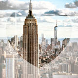 Love NY Series - Empire State Building and 1WTC - Manhattan - New York - USA Photographic Print by Philippe Hugonnard