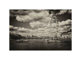 Landscape of River Thames with London Eye - Millennium Wheel - City of London - UK - England Photographic Print by Philippe Hugonnard