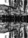Double Sided Series - Times Square Urban Scene by Night - Manhattan - New York Photographic Print by Philippe Hugonnard