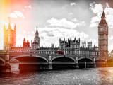 Houses of Parliament and Westminster Bridge - Big Ben - City of London - UK - England Photographic Print by Philippe Hugonnard