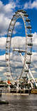 Landscape of London Eye - Millennium Wheel and River Thames - London - England - Door Poster Photographic Print by Philippe Hugonnard