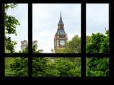 Window View of Big Ben - UK Landscape - London - UK - England - United Kingdom - Europe Photographic Print by Philippe Hugonnard