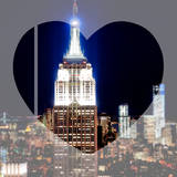 Love NY Series - Top of the Empire State Building at Night - Manhattan - New York - USA Photographic Print by Philippe Hugonnard