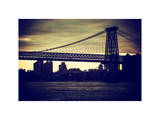 The Williamsburg Bridge at Nightfall - Lower East Side of Manhattan - New York Photographic Print by Philippe Hugonnard