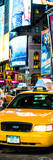 Door Posters - NYC Yellow Taxis / Cabs in Times Square by Night - Manhattan - New York Photographic Print by Philippe Hugonnard