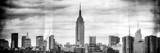 Instants of NY BW Series - Panoramic Landscape View Manhattan with the Empire State Building Photographic Print by Philippe Hugonnard
