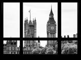 Window View of the Houses of Parliament and Big Ben - City of London - UK Photographic Print by Philippe Hugonnard