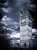 Big Ben - City of London - UK - England - United Kingdom - Europe - Blue-Tone Photography Photographic Print by Philippe Hugonnard