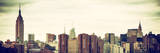 Panoramic Landscape View Manhattan with the Empire State Building and Chrysler Building - NYC Photographic Print by Philippe Hugonnard