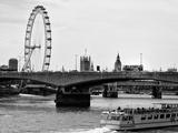 Waterloo Bridge and London Eye - Big Ben and Millennium Wheel - River Thames - City of London - UK Photographic Print by Philippe Hugonnard