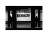 Moment of Life in NYC Subway Station to the Fifth Avenue - Manhattan - New York Photographic Print by Philippe Hugonnard