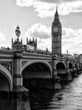 View of Big Ben from across the Westminster Bridge - Thames River - City of London - UK - England Fotografie-Druck von Philippe Hugonnard