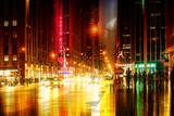 Urban Stretch Series - The Radio City Music Hall by Night - Manhattan - New York Photographic Print by Philippe Hugonnard