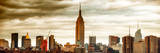 Panoramic Landscape View Manhattan with the Empire State Building at Sunset - New York Photographic Print by Philippe Hugonnard