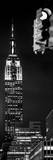 Vertical Panoramic - Door Posters - NYC Urban Street Scene - The Empire State Building at Night Photographic Print by Philippe Hugonnard
