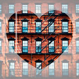 Love NY Series - Facade of Building with Fire Escape - USA Photographic Print by Philippe Hugonnard