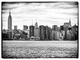 Landscape View Manhattan with the Empire State Building and Chrysler Building - New York Photographic Print by Philippe Hugonnard