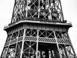 Close Up of Eiffel Tower - Paris - France - Europe - Black and White Photography Photographic Print by Philippe Hugonnard