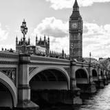 View of Big Ben from across the Westminster Bridge - Thames River - City of London - UK - England Fotografisk tryk af Philippe Hugonnard