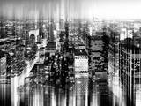 Urban Stretch Series - Skyline of Manhattan by Night - New York Photographic Print by Philippe Hugonnard