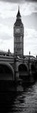 View of Big Ben from across the Westminster Bridge - Thames River - London - Door Poster Photographic Print by Philippe Hugonnard