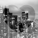 Love NY Series - Manhattan Cityscape at Night with the New Yorker Hotel - New York - USA Photographic Print by Philippe Hugonnard
