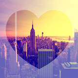 Love NY Series - Manhattan at Sunset with the Empire State Building - New York - USA Photographic Print by Philippe Hugonnard