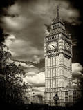 Big Ben - City of London - UK - England - United Kingdom - Europe - Sepia-Tone Photography Photographic Print by Philippe Hugonnard