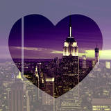 Love NY Series - Manhattan Nightfall with the Empire State Building - New York - USA Photographic Print by Philippe Hugonnard