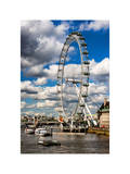 Landscape of London Eye - Millennium Wheel and River Thames - London - England - United Kingdom Photographic Print by Philippe Hugonnard