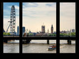 Window View of the Millennium Wheel with Houses of Parliament and Big Ben - London - UK Photographic Print by Philippe Hugonnard