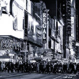 Times Square Urban Scene by Night - Manhattan - New York City - United States Photographic Print by Philippe Hugonnard