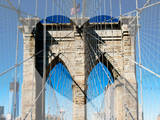 Love NY Series - The Brooklyn Bridge - Manhattan - New York - USA Photographic Print by Philippe Hugonnard